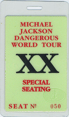 MICHAEL JACKSON 1992 LAMINATED BACKSTAGE PASS green