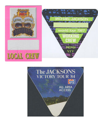MICHAEL JACKSON Backstage Pass SET OF 3 Passes
