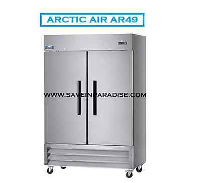 New Arctic Air Commercial Double Door Reach In Refrigerator Nsf Approved Ar49