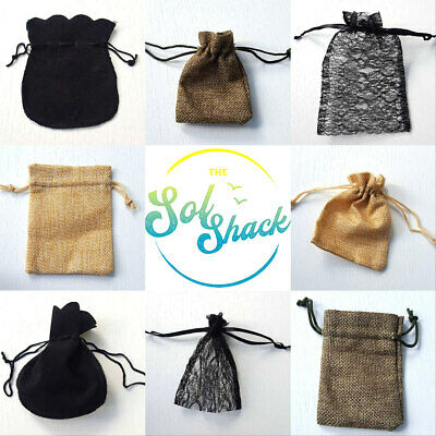 Velvet Pouch Gift Bag Small Drawstring for Organza Lace Earrings Ring Mini 036