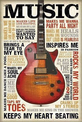 Vintage Music Poster Print Wall Art Size A1 /a2 /a4
