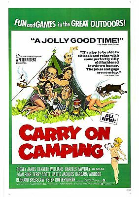 Carry On Camping - Sid James - Kenneth Williams - A4 Laminated Mini Poster