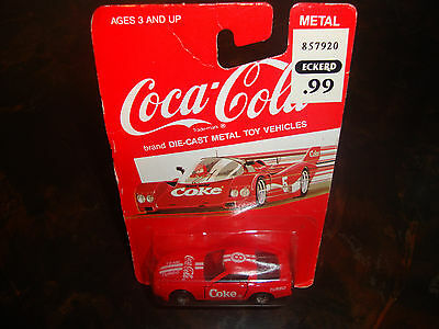 Coca-Cola---1:64 Scale Diecast---Red Race Car---#8 Team Turbo---Sealed---1988