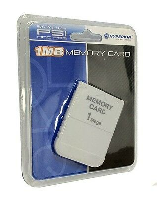 1 MB Memory Card For Playstation 1 PS1 PSX Game (factory sealed)