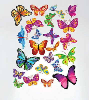 Buttefly Peel and Stick Nursery Wall Decal Stickers Home Decor Removable Kids