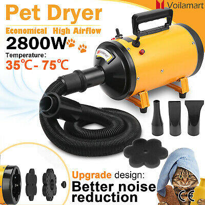 2800W Pet Dog Cat Hair Grooming Blow Dryer Speed Hairdryer Blower Heater Blaster