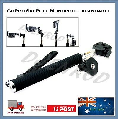 GoPro Monopod Handle For Hero 5 / 4 / 3 / 2 Go Pro Sessions Pole Selfie Stick