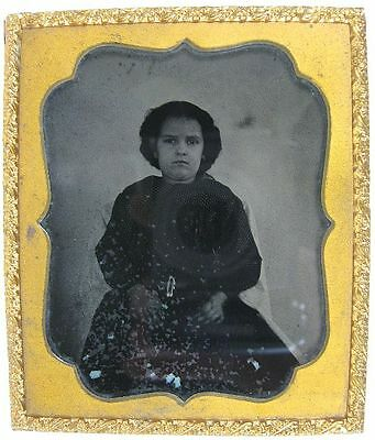 1850's Ambrotype 1/6 Plate Photo of a Young Girl Sissons