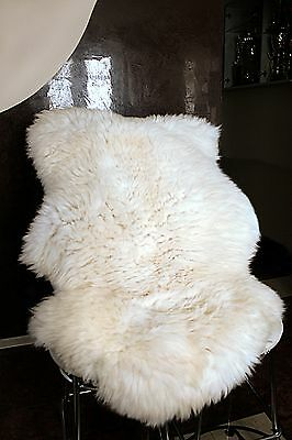 SUPER XXL New Ivory White Genuine Sheepskin Fur Rug + GIFTS !