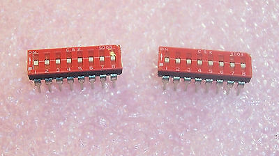 Qty (25) Sd08H0K C&k 8 Position Flush Slide Dip Switch Spst Nos 1 Tube