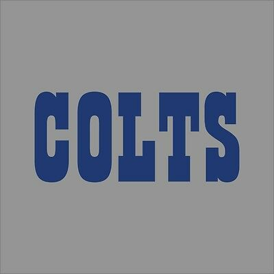 Indianapolis colts 2 nfl team logo vinyl decal sticker car window wall cornhole