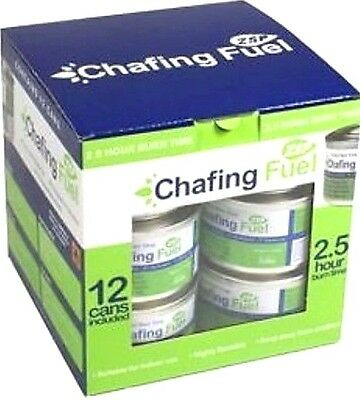 12 Chafing Dish Fuel Gel Cans 2.5 Hour Burn Time Each – Caterers Chafing Tins