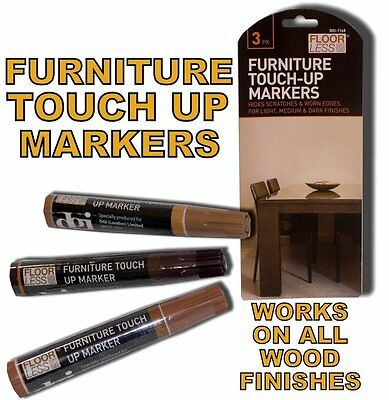 3 Furniture Touch Up Pen Marker Nicks Marks Scratches Laminate Wood Floor Repair