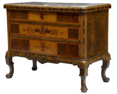 20Th Century Gustavian Inspired Inlaid Walnut Chest Commode