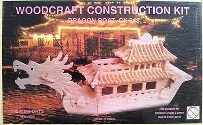 Dragon Boat: Woodcraft Construction Wooden 3D Model Kit CX543