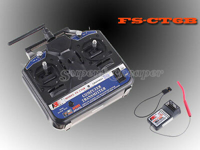 FS Flysky RC Plane Helicopter 2.4Ghz 6CH Transmitter Receiver CT6B Mode 2