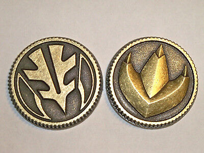 Set of 2 Power Coins Prop Ranger Cosplay 2013 Morpher Dragon/Tiger Legacy