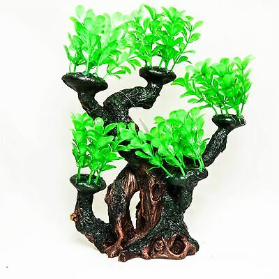 Bonsai Tree PolyResin Aquarium Novelty Fish tank Ornament.