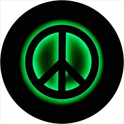 Peace sign #3 Tire Cover Jeep RV Camper Trailer VW etc(all sizes avail)