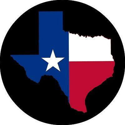 Texas Flag Spare Tire Cover Jeep RV Camper VW Trailer etc (all sizes available)