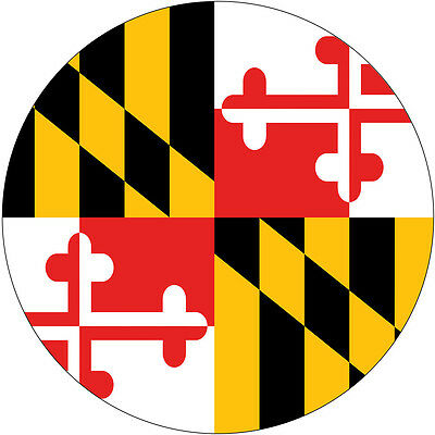 Maryland Flag Spare Tire Cover Wheel Cover Jeep RV Camper Trailer etc (all sizes