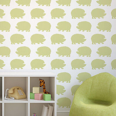 Hedgehogs Allover Stencil - LARGE - Reusable Wall Stencils for DIY Nursery Decor