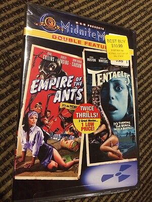 Empire of the Ants/Tentacles (DVD, 2005)Lansing,Huston, Win New. Sealed. OOP