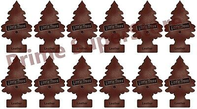 Lot Of New 12 Pack Little Trees Air Freshener Leather Scent 4 Car Home & Office