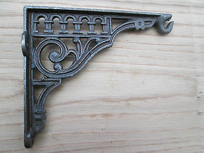 "6"" Antique Cast Iron Vintage Retro Fancy Style Shelf Support Book Fancy Bracket"