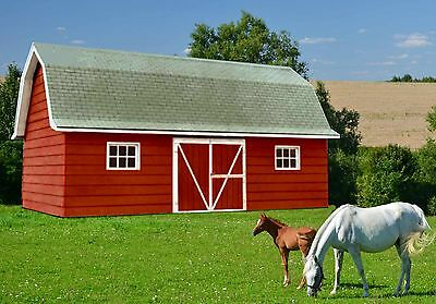 A Very Versatile 14' x 28'  Livestock and Equipment Barn - Plan No. 1662