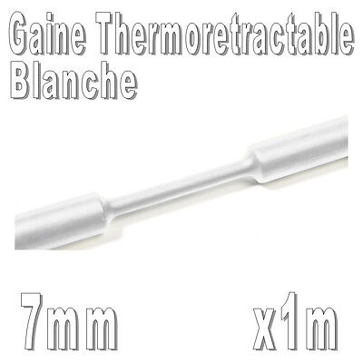 Gaine Thermo Rétractable 2:1 - Diam. 7 mm - Blanc - 1m