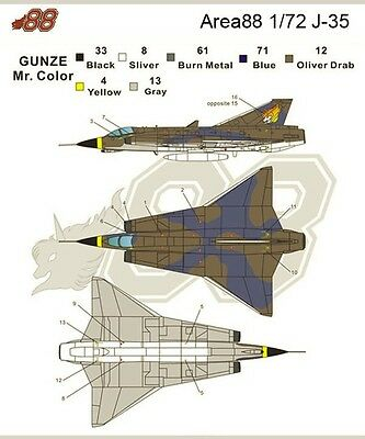 1/72 Saab J-35 in Area88 Decal