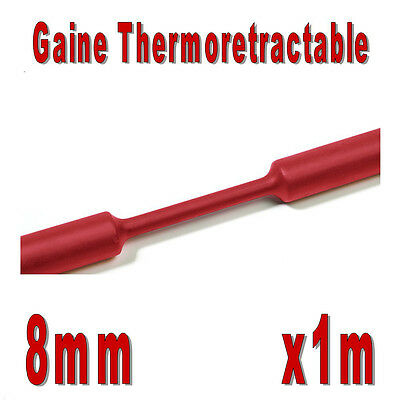Gaine Thermo Rétractable 2:1 - Diam. 8 mm - Rouge - 1m