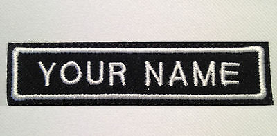 """3 Custom Embroidered Name Tag Your Text Biker Vest Patch Badge 4"""" x 7/8"""" Harley"""