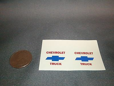 #BD10 - Chevy Truck Mudflap Decal. 1/25th scale.