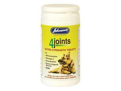 Johnsons 4Joints Extra Strength Tablets Arthritis Dogs Cats 30 Tablets