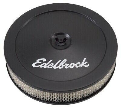 "Edelbrock 1203 Pro-Flo Black 10"" Round Air Cleaner / Filter"