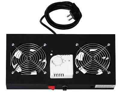 "DN-19FAN-2-HOSW unité de ventilation 19"", 1 U, 2 ventilateurs 120 mm"