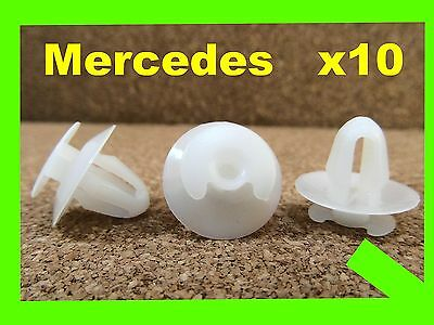 10 Mercedes Benz door card fascia trim lining board panel fasteners clips