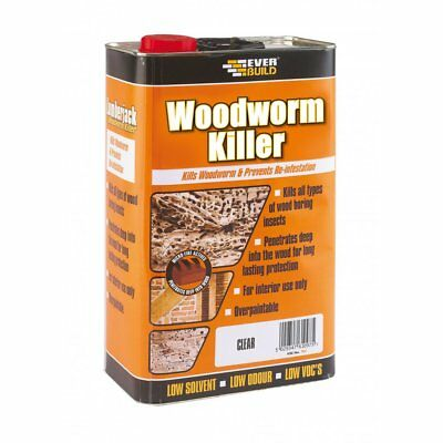 EVERBUILD WOODWORM KILLER  5L Litre  Wood Treatment LOW ODOUR