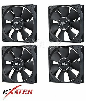 4 x Deepcool XFAN120 Silent 120mm Hydro Bearing Case Fan 28db 4-pin Molex