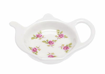 Kirsty Jayne China ditsy, pretty, pink rose DOT ROSE Teabag Tidy
