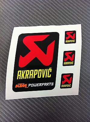 4 Adesivi Stickers AKRAPOVIC POWER resistente al calore