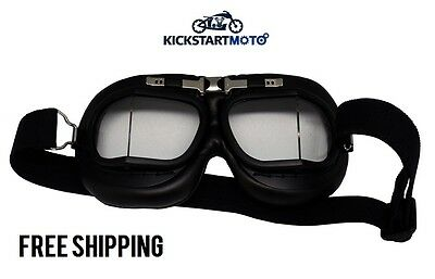 Red Baron Aviator Flying Goggle Cafe Racer Motorcycle Goggles Retro Clubman