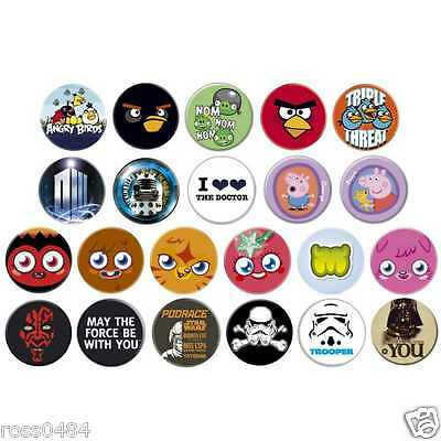 *CLEARANCE* Button Badge Selection OFFICIAL Birthday Christmas Gift Children's