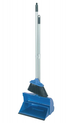 Dustpan and Brush Set With Long Handle