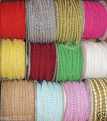 "NEW 1/2""  3/8"" chinese Braided Gimp Trim SEWING UPHOLSTERY crafts by the yard ❤️"