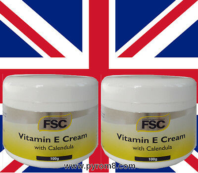 Vitamin E Cream with Calendula 100g by FSC Suitable for Vegans etc x 2