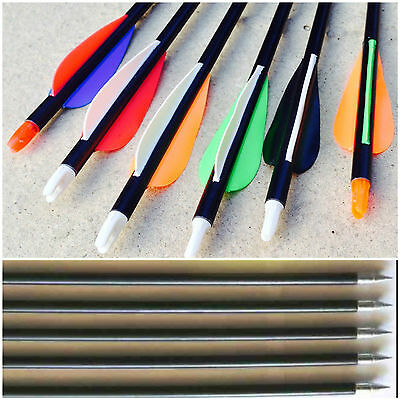 "10 Fibreglass Steel Tip 31.5"" Archery Arrows Bow Target & field UK Seller"