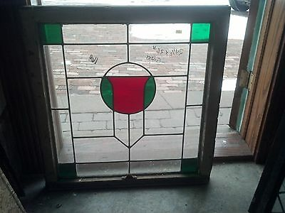 2 available stained glass arts and crafts windows   (SG 1601)